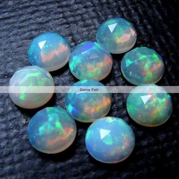 5 piece 5mm Ethiopian Opal rosecut round cabochon gemstone
