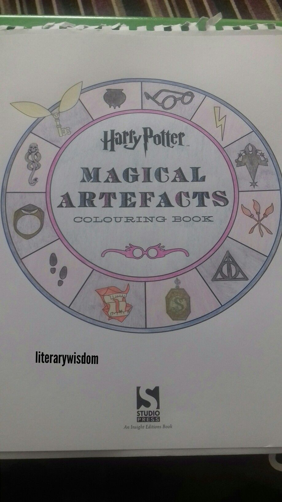 Completed 15 04 2017 Harry Potter Magical Artifacts Colouring Book