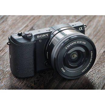 Sony Alpha A5100 Mirrorless Digital Camera Ilce 5100l B B H Sony A5100 Mirrorless Camera Sony