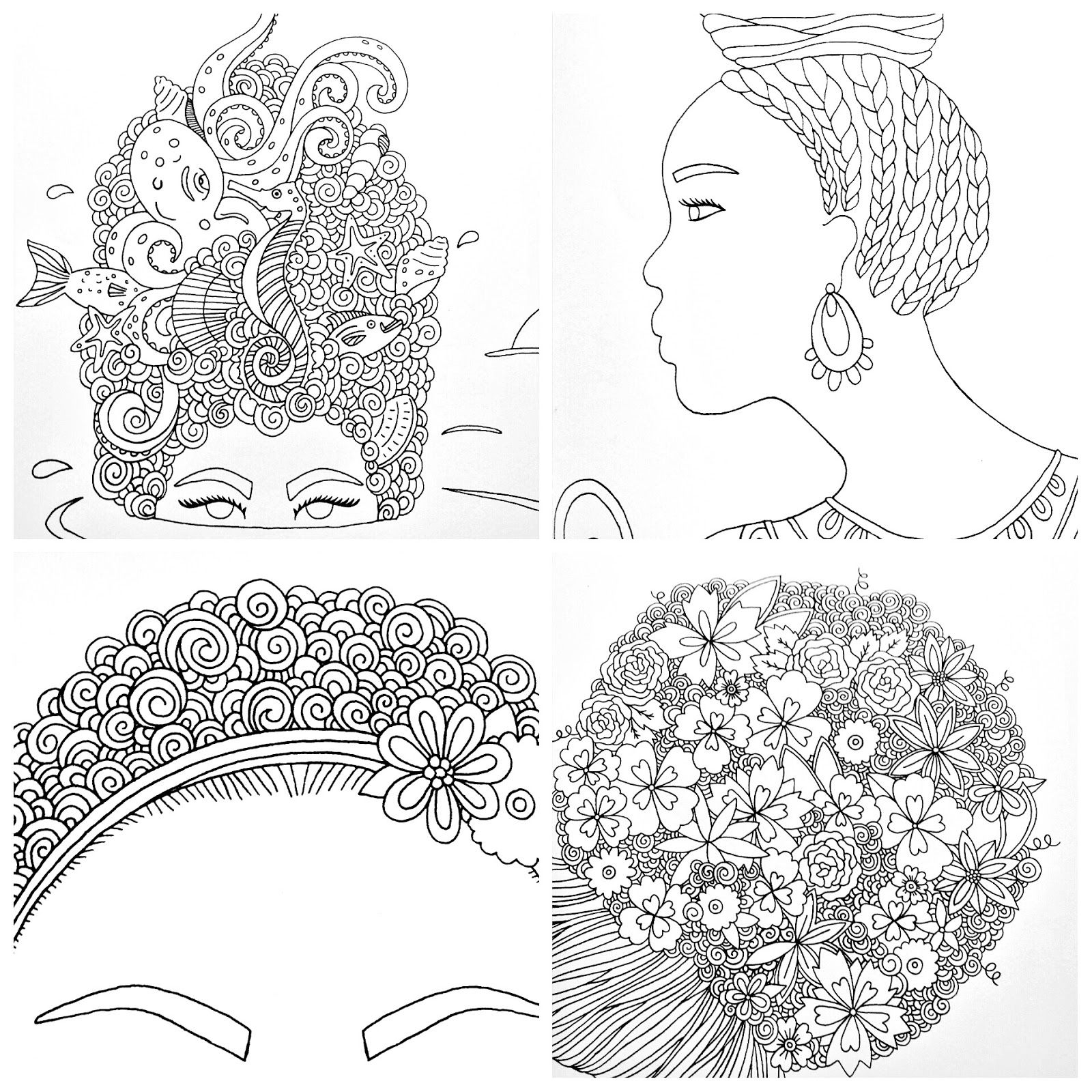 I Love My Hair A Coloring Book Of Braids Coils And Doodle Dos By Andrea Pippins Matrix Color Chart Coloring Pages Girl Hair Colors