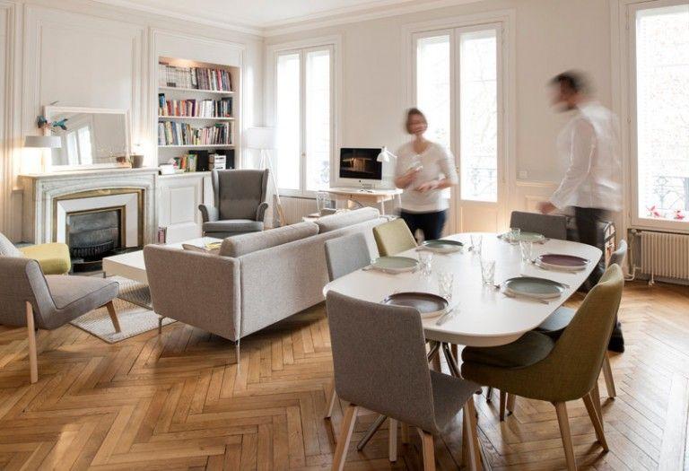 un appartement traversant salon pinterest salons. Black Bedroom Furniture Sets. Home Design Ideas