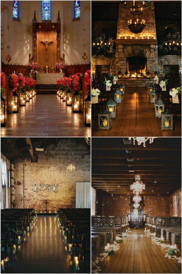 36 Stunning Wedding Ideas With Candles Elegantweddinginvites Com Blog Wedding Ceremony Decorations Indoor Wedding Aisle Decorations Ceremony Decorations Church