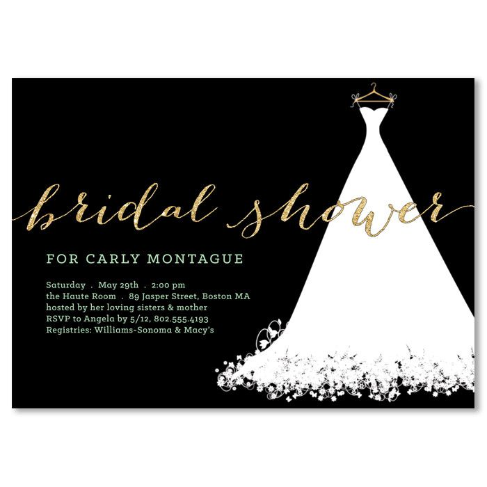 Carly black gold bridal shower invitation gold bridal showers carly black gold bridal shower invitation filmwisefo