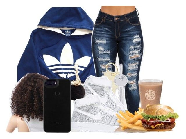 """""""50"""" by jaliyahk on Polyvore featuring adidas, The Giving Keys, Rembrandt Charms, NIKE and Furla"""