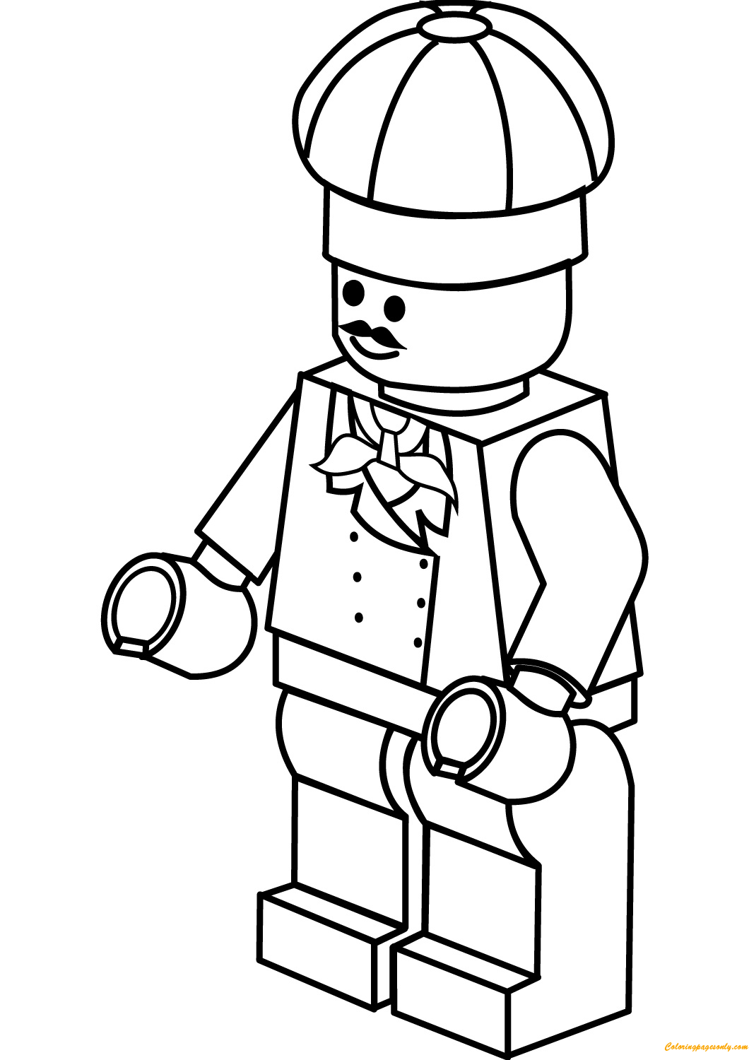 lego city chef coloring page http
