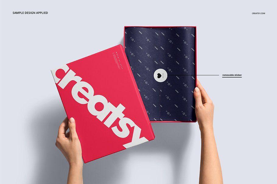 Download Shoe Box Mockup Set Box Mockup Box Design Templates Mockup Design