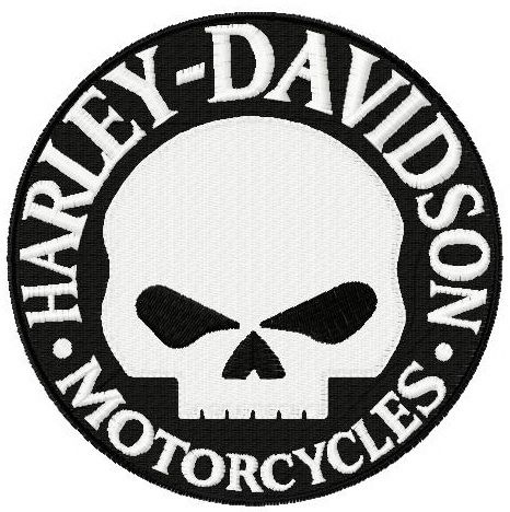 Harley Davidson Willie G Logo Embroidery Design