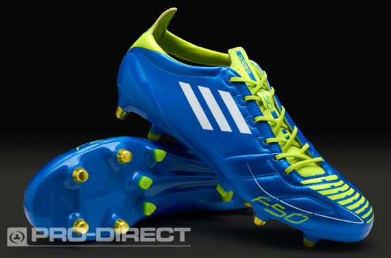 e6e4fc2b4cc adidas Football Boots - adidas F50 adizero XTRX SG Leather - Soft Ground -  Soccer Cleats - Anodized Blue-White-Slime