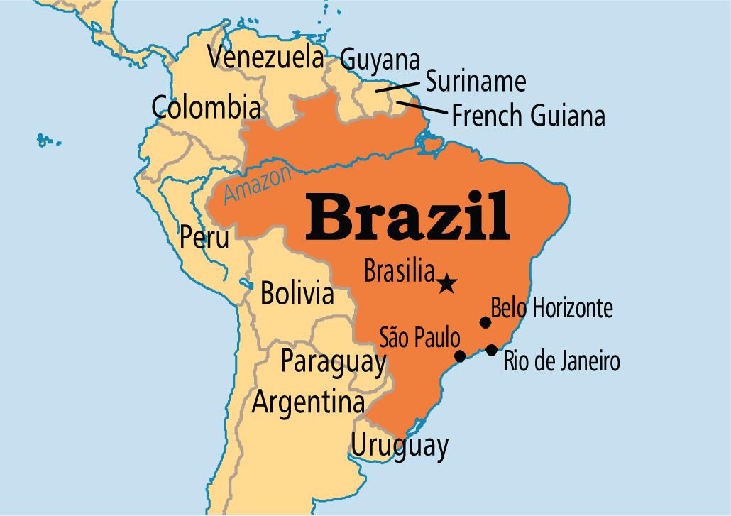 Facts About Brazil Brazil Argentina Uruguay Brazil Map