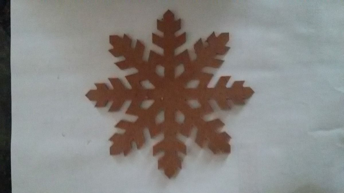 kit 10 flocos de neve mdf crú frozen gelinho decoração festa