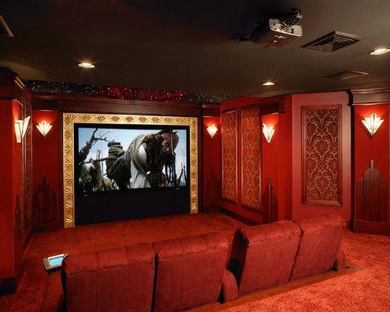 Art Deco Home Theater Design