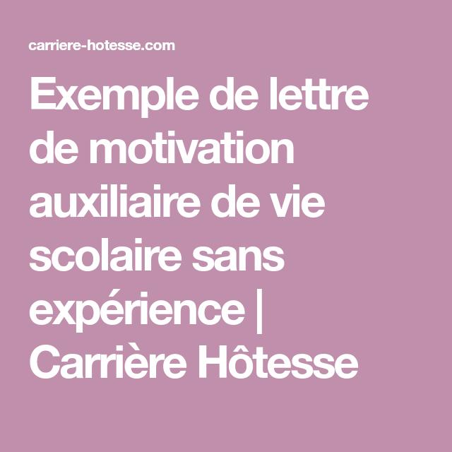 Exemple De Lettre De Motivation Auxiliaire De Vie Scolaire Sans