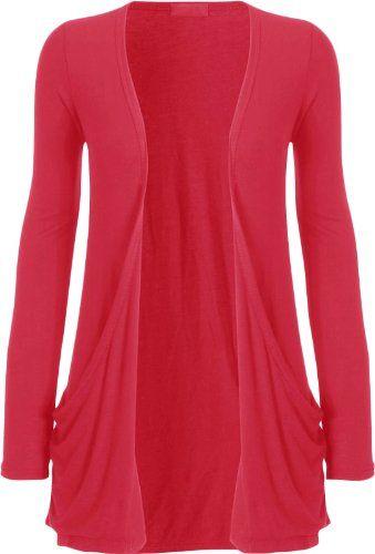 Amazon.com: Fashion Womens Boyfriend Pocket Cardigan Shrug Sweater ...