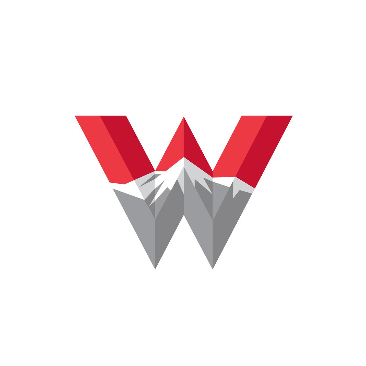 Western Colorado University Letter W Single Letter Logo University Logo