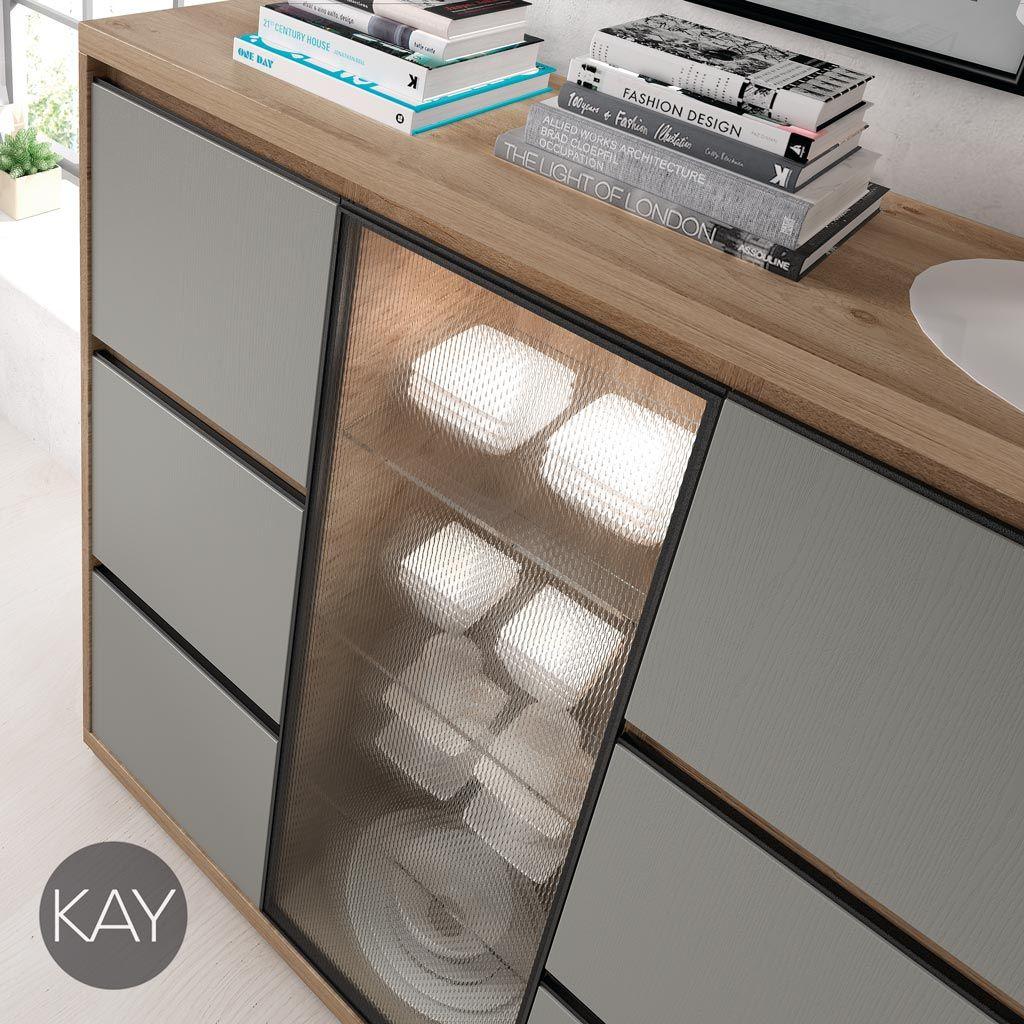Detalle De Vitrina Con Cristal De Dise O Del Cat Logo Kay De  # Muebles Baixmoduls