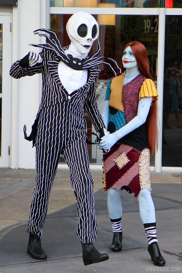 Jack and Sally meet and greet #Disney