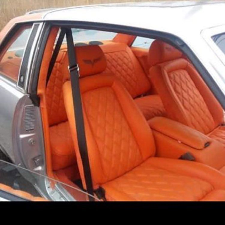 car auto custom silver with orange and black interior diamond stitch grey auto addiction. Black Bedroom Furniture Sets. Home Design Ideas