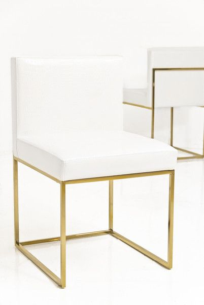 Dining chairs with brushed gold detail | Dining room ...