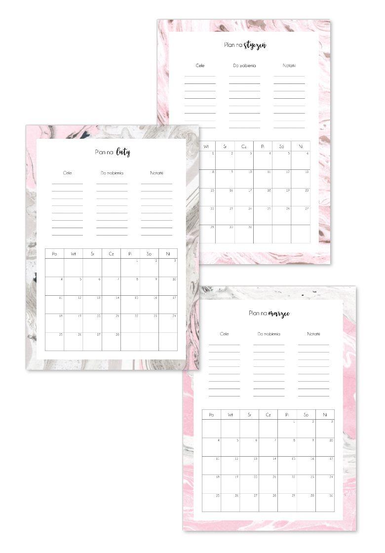 Kalendarz 2019 Do Druku P R I N T A B L E Pinterest Journal