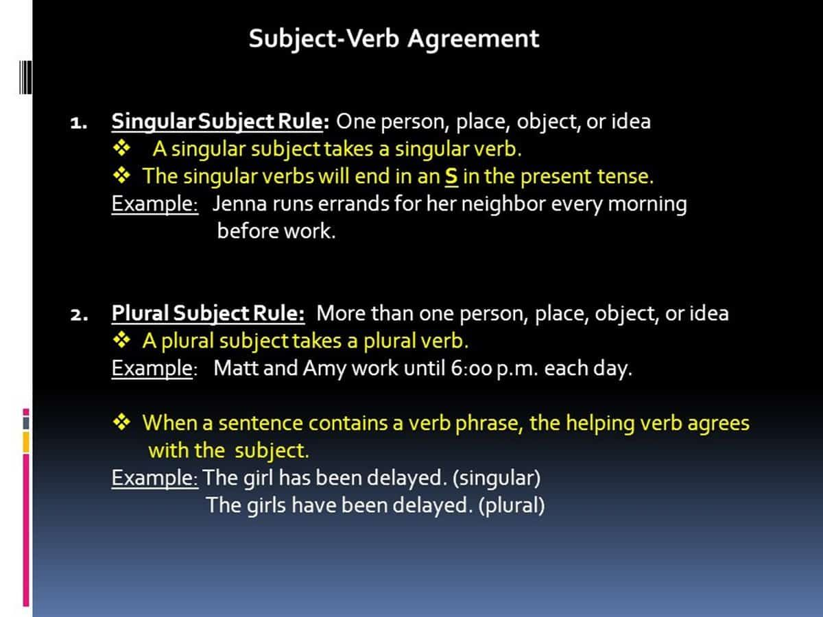 Must Know Rules For Subject Verb Agreement Eslbuzz Learning English Subject Verb Agreement Subject And Verb Verb [ 900 x 1200 Pixel ]