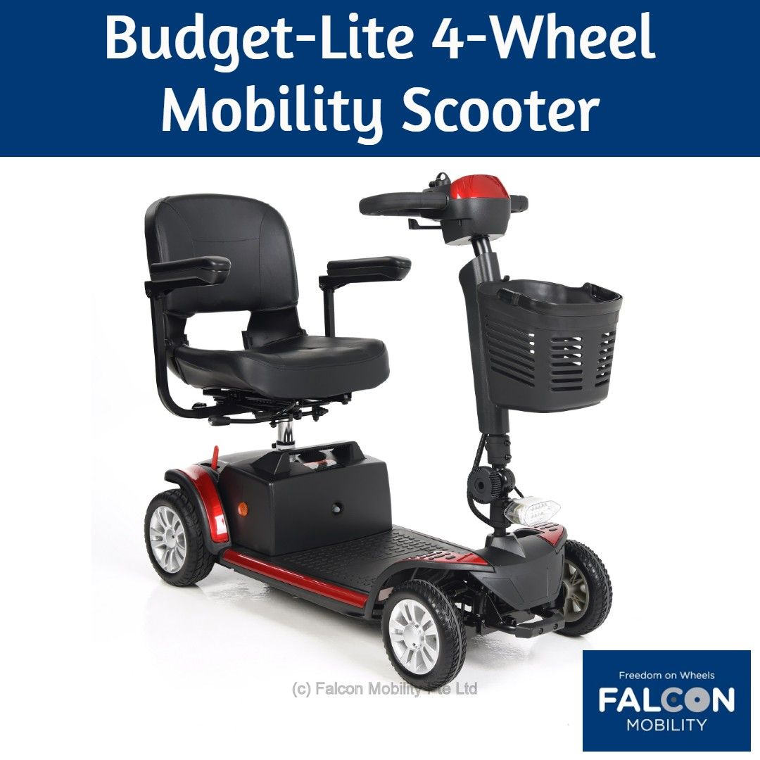 The Falcon Budget Lite Is An Affordable 4 Wheel Mobility Scooter That Is Rugged Enough To Handle The Rough Pavemen Mobility Scooter Electric Wheelchair Scooter