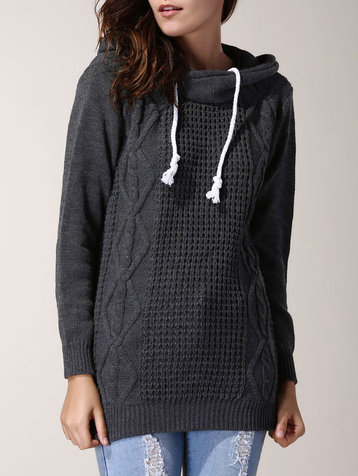 Madelyn Hooded Long Sleeve Sweater | Products | Pinterest | Products