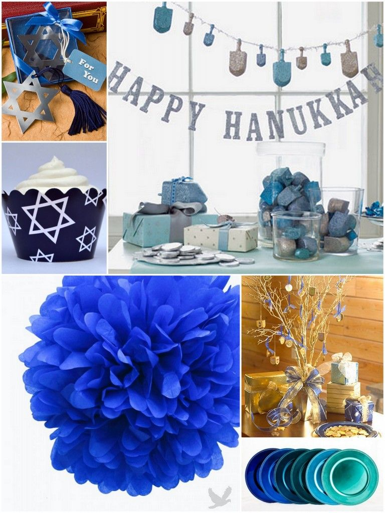 Blue Party Decorating Ideas hanukkah decor | holiday- chanukah | pinterest | hanukkah