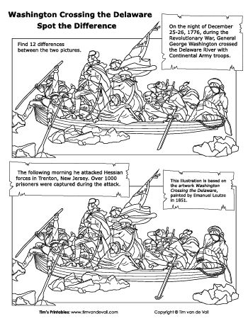 Washington Crossing the Delaware Spot the Difference