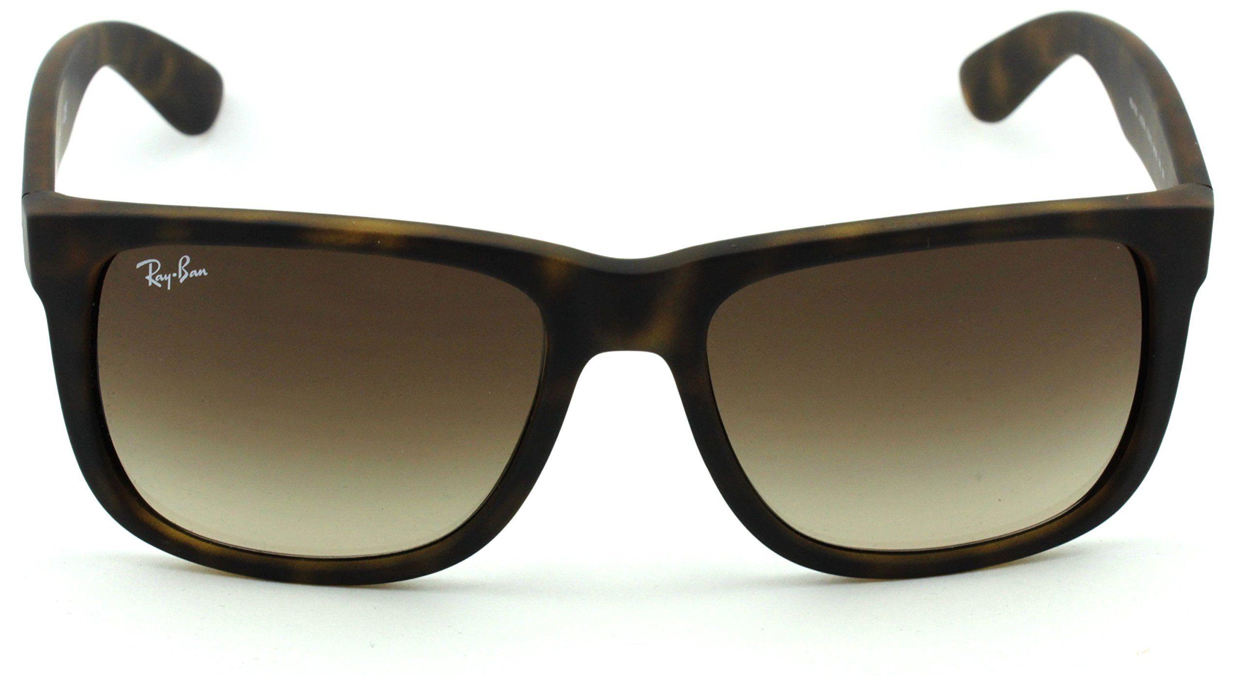 6b60668891 RayBan RB4165 Unisex Rectangular Sunglasses Rubber Light Havana Frame Brown  Gradient Lens 710 13