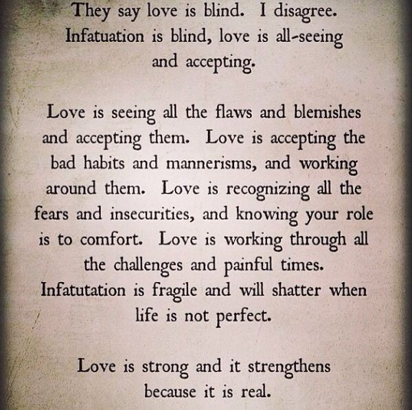 Love Is Working Through All The Challenges And Painful Times