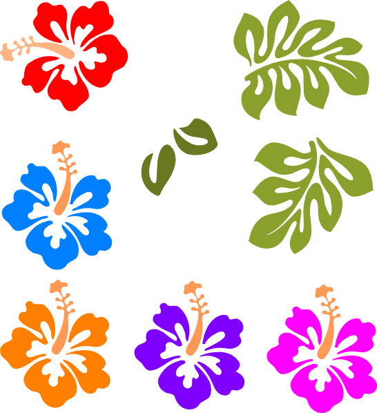 hawaiian flower clip art tropical mix clip art vector clip art rh pinterest com au tropical flowers clipart free tropical flowers clip art free