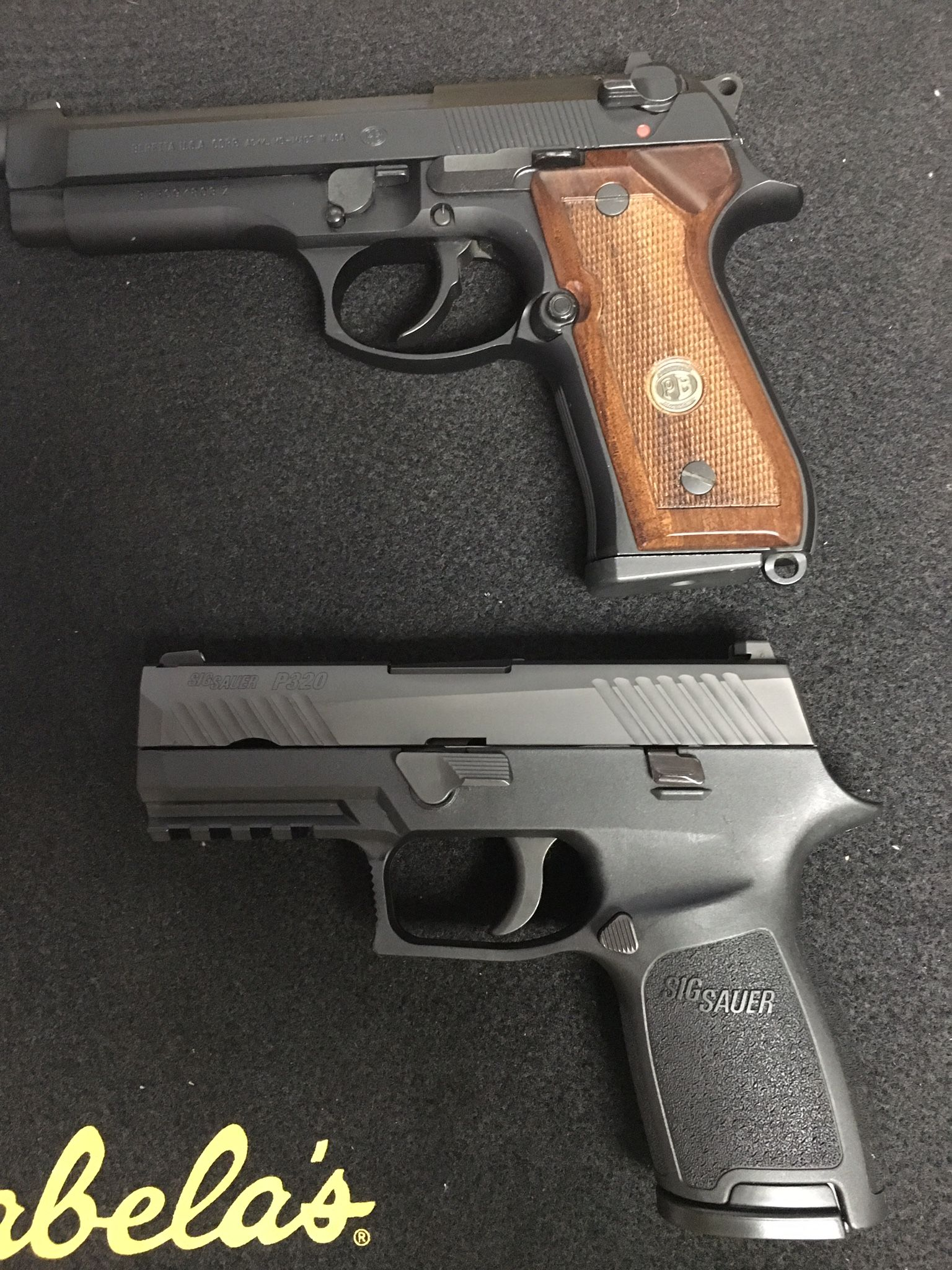 My two hand guns beretta 92fs and sig p320 compact 9mm find our speedloader now
