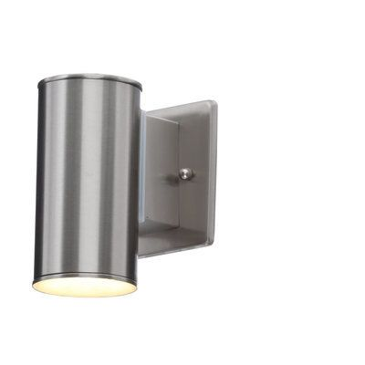 sale retailer 22cab 757a8 Home Decorators Collection Brushed Nickel Outdoor LED Wall ...