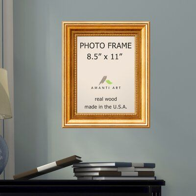Astoria Grand Hendry Gold Picture Frame Picture Size: 8.5