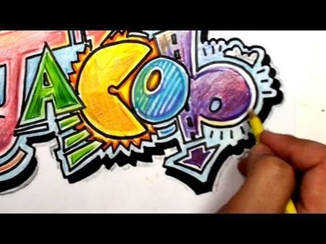 How To Draw Graffiti Letters Write Jacob In Cool Letters Youtube