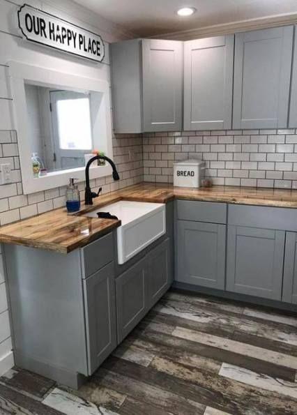 Küchenschränke hellgraue Metzgerblöcke 59+ Ideen#hellgraue #ideen #küchenschränke #metzgerblöcke