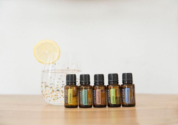 Versuchen Sie Atherische Ole Aus Lemon Spearmint Grapefruit Lime