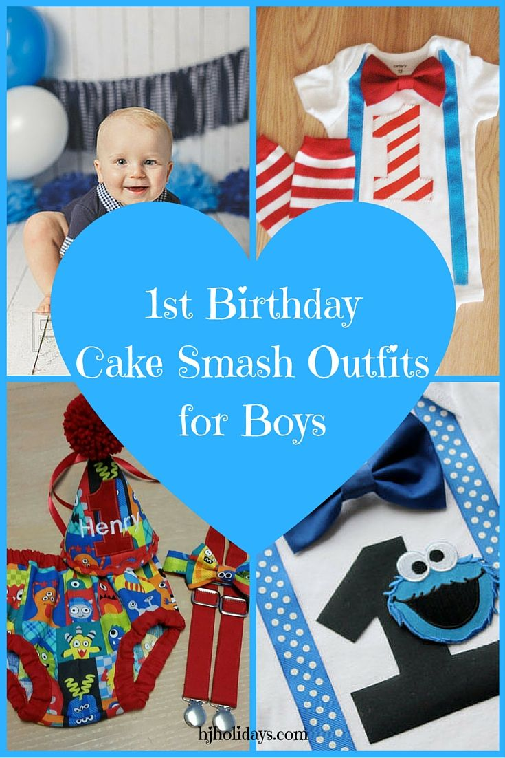 1st Birthday Cake Smash Outfit for Boys Girls Cake smash outfit