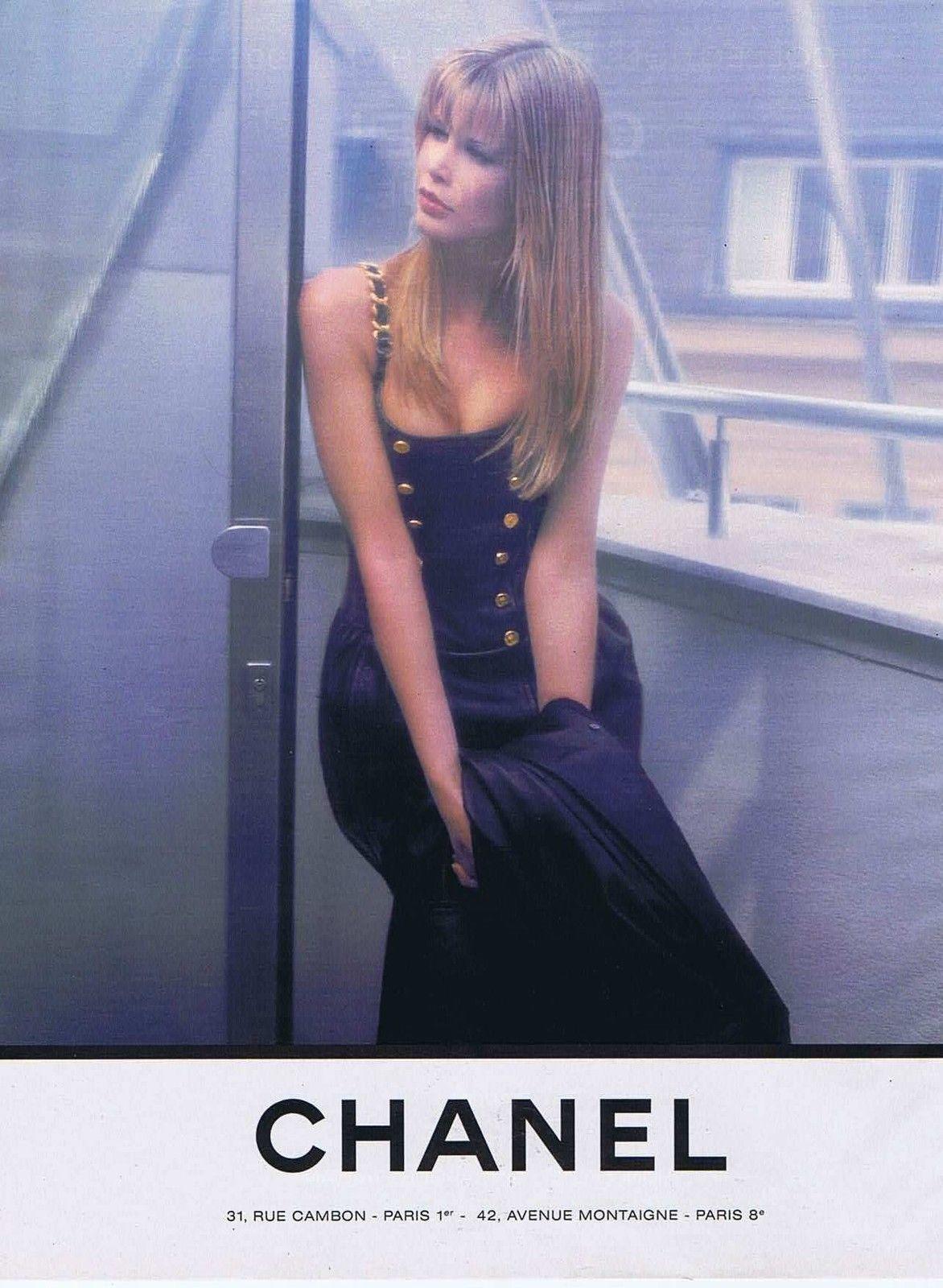 Publicite Advertising 114 1993 Chanel Avec Claudia Schiffer 4 151114   eBay