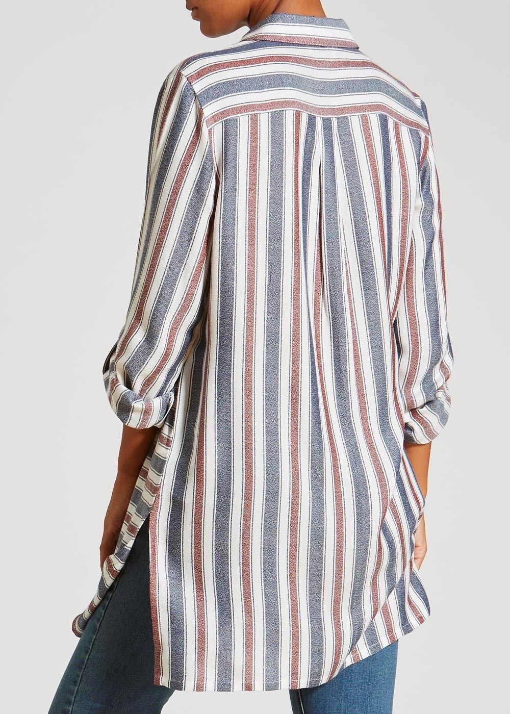 Long Line Stripe Shirt
