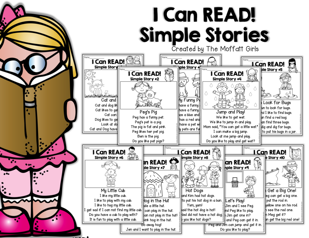 I Can Read Simple Simple Stories Perfect For Beginning