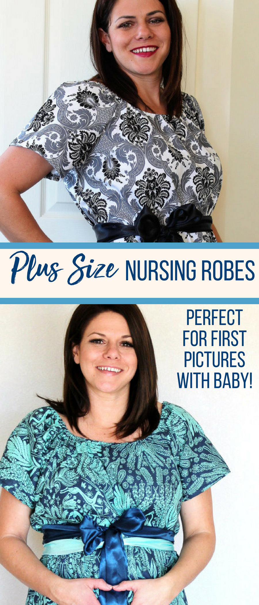 Custom made hospital gowns for new moms | Maternity gown | nursing ...