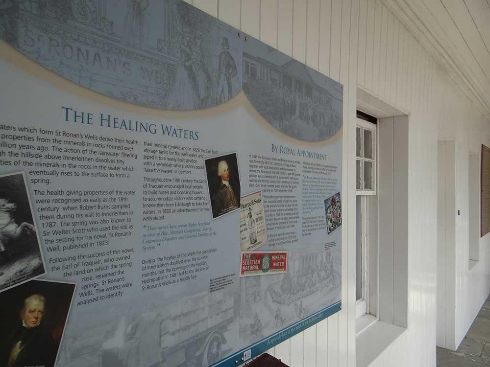 St Ronan's Well visitor centre interpretation