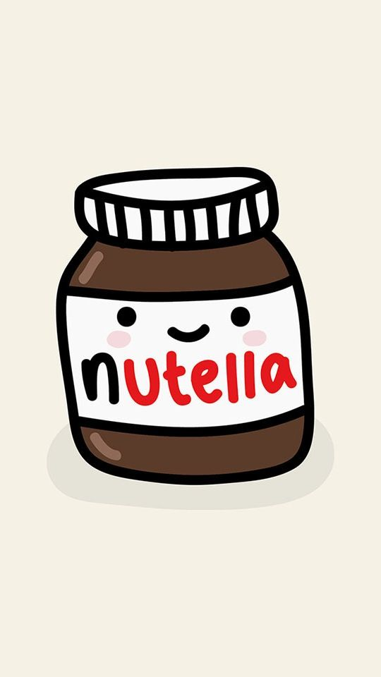 Cute Cartoon Nutella Food Pinterest Cute Food Drawings
