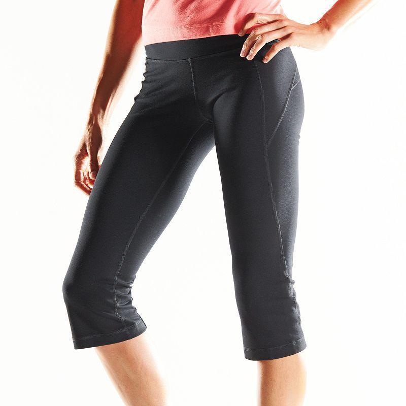 149ecbd1bc27 Women's Tek Gear® Core Essentials Shapewear Yoga Capris, Size: Medium, Grey