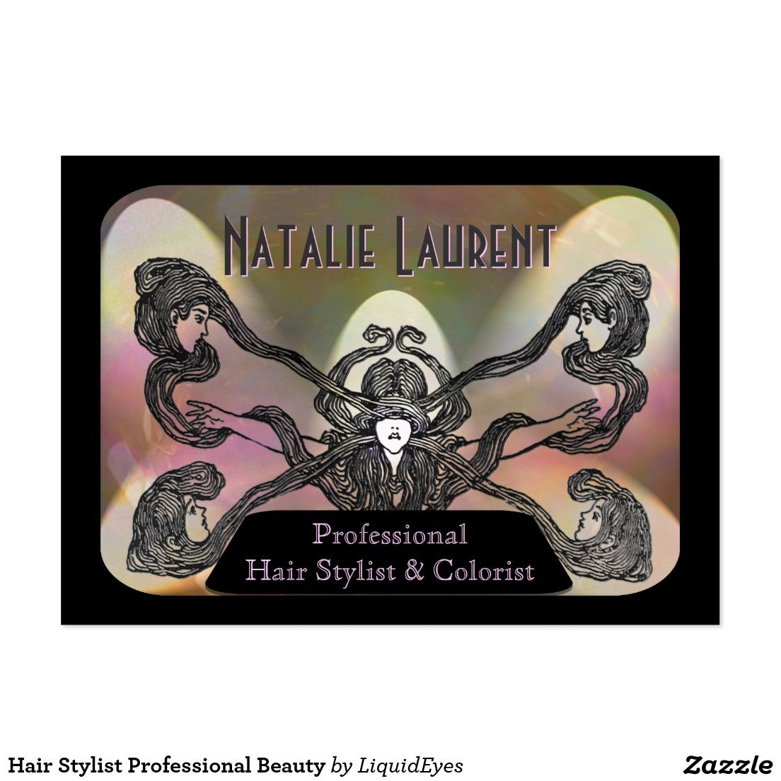 Hair Stylist Professional Beauty Large Business Card   Business ...