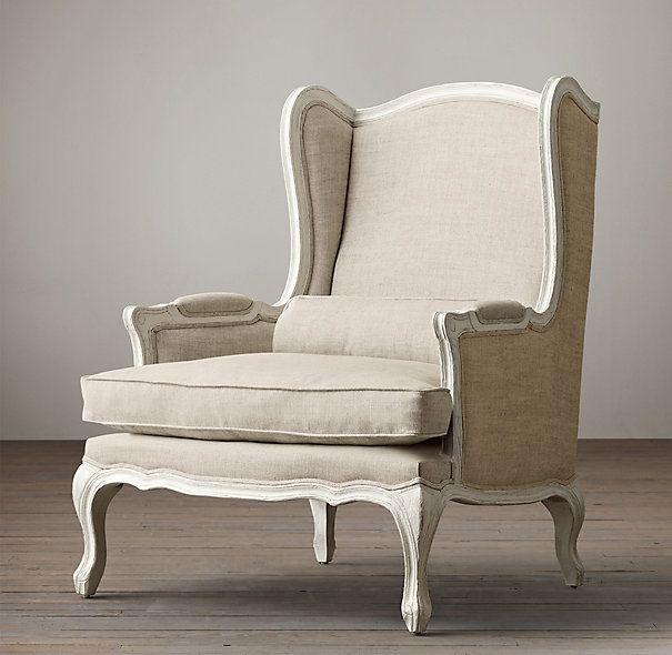 Lorraine Chair With Burlap Mobilya Koltuklar Dekorasyon