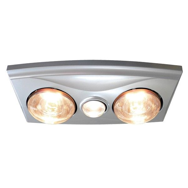Thermalite 3 In 1 Bathroom Heater In Silver With 2x275w Heat Lamps