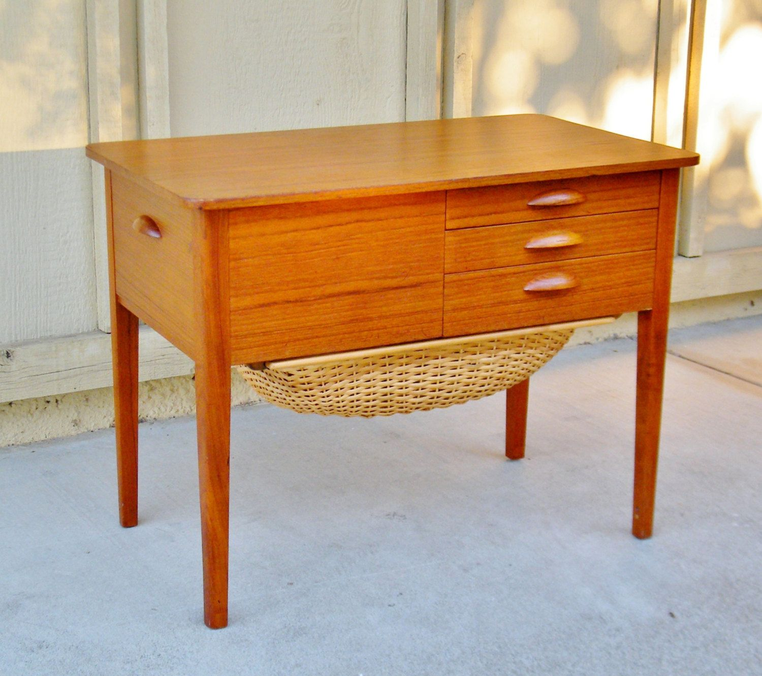 Vintage Danish Sewing Cabinet - Mid Century Sewing Cabinet by ...