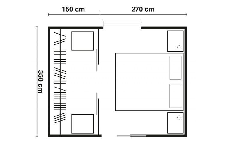 Soluzione cabina armadio for Progetto camera